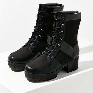 Penny Treaded Combat Boots